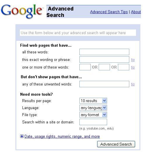 google-advanced-search