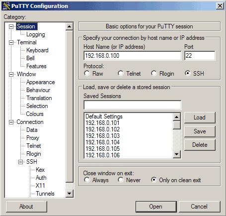 اتصال به ssh از طریق نرم افزار putty
