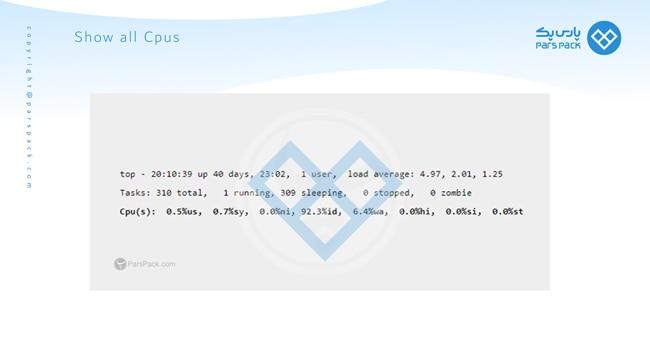 نمایش cpu در سرور لینوکس