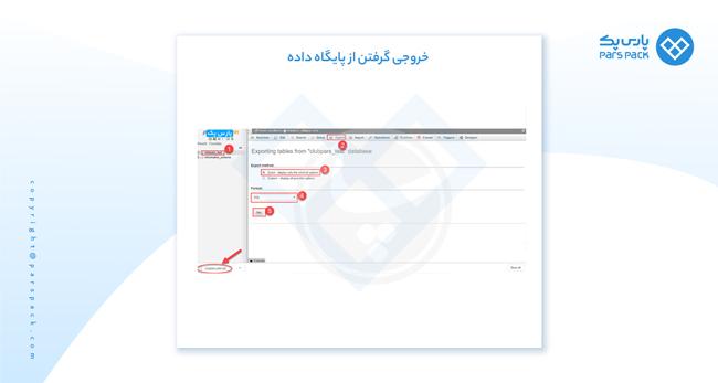آموزش خروجی گرفتن از پایگاه داده