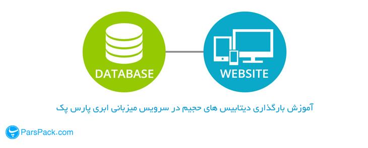 انتقال فایل سنگین به database در هاست ابری
