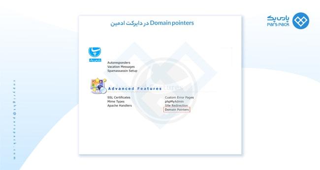 domain pointers دایرکت ادمین چیست؟