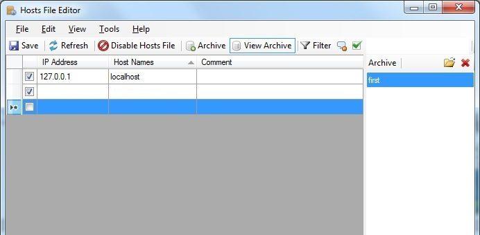پیش نمایش سایت بدون تغییر NS های دامنه با استفاده از ابزار Hosts File Editor