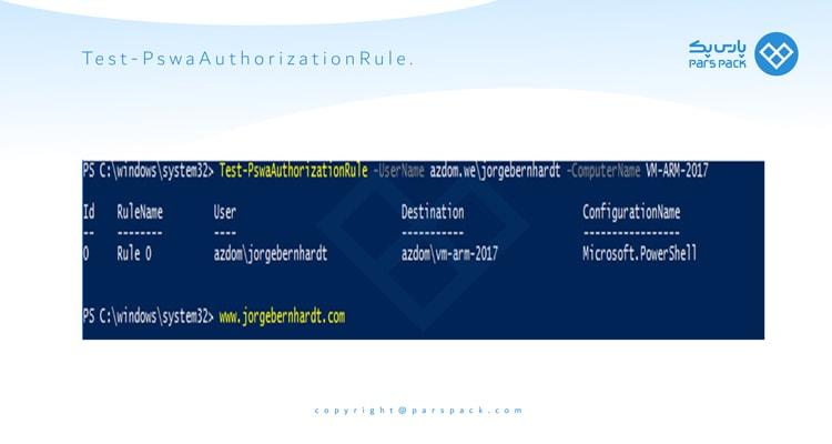 دستور Test-PswaAuthorizationRule پاورشل